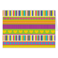 Colorful Rainbow Cute Patterns and Shapes Gifts Card
