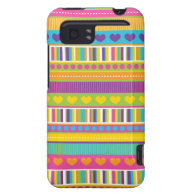 Colorful Rainbow Cute Patterns and Shapes Gifts HTC Vivid Cases
