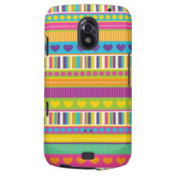 Colorful Rainbow Cute Patterns and Shapes Gifts Samsung Galaxy Nexus Case