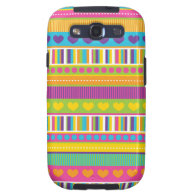 Colorful Rainbow Cute Patterns and Shapes Gifts Samsung Galaxy SIII Case