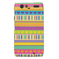 Colorful Rainbow Cute Patterns and Shapes Gifts Droid RAZR Cover