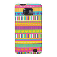 Colorful Rainbow Cute Patterns and Shapes Gifts Samsung Galaxy S2 Cases