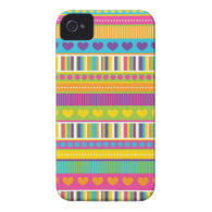 Colorful Rainbow Cute Patterns and Shapes Gifts iPhone 4 Cover
