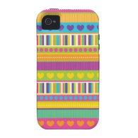 Colorful Rainbow Cute Patterns and Shapes Gifts iPhone 4 Cases