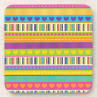 Colorful Rainbow Cute Patterns and Shapes Gifts Drink Coasters