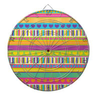 Colorful Rainbow Cute Patterns and Shapes Gifts Dartboard
