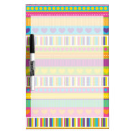 Colorful Rainbow Cute Patterns and Shapes Gifts Dry Erase Boards