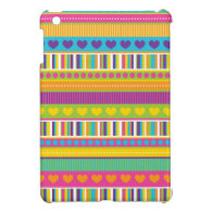 Colorful Rainbow Cute Patterns and Shapes Gifts Case For The iPad Mini