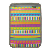 Colorful Rainbow Cute Patterns and Shapes Gifts MacBook Air Sleeve
