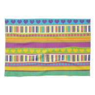 Colorful Rainbow Cute Patterns and Shapes Gifts Towel