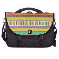Colorful Rainbow Cute Patterns and Shapes Gifts Laptop Messenger Bag