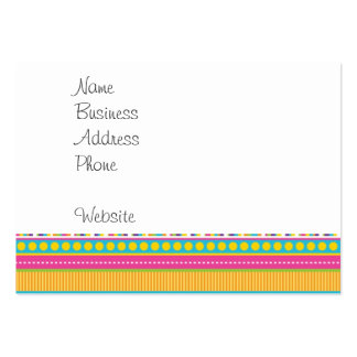 Colorful Rainbow Cute Patterns and Shapes Gifts Large Business Card
