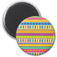Colorful Rainbow Cute Patterns and Shapes Gifts Refrigerator Magnet