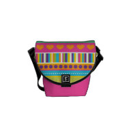 Colorful Rainbow Cute Patterns and Shapes Gifts Courier Bag