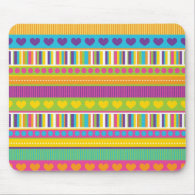 Colorful Rainbow Cute Patterns and Shapes Gifts Mousepads