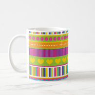 Colorful Rainbow Cute Patterns and Shapes Gifts Coffee Mug