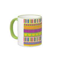 Colorful Rainbow Cute Patterns and Shapes Gifts Coffee Mugs