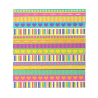 Colorful Rainbow Cute Patterns and Shapes Gifts Scratch Pad