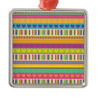 Colorful Rainbow Cute Patterns and Shapes Gifts Christmas Ornaments