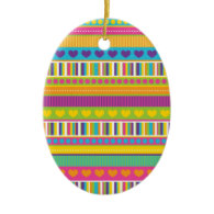 Colorful Rainbow Cute Patterns and Shapes Gifts Christmas Ornament