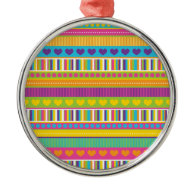 Colorful Rainbow Cute Patterns and Shapes Gifts Christmas Tree Ornaments