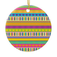 Colorful Rainbow Cute Patterns and Shapes Gifts Ornaments