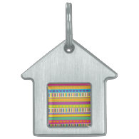 Colorful Rainbow Cute Patterns and Shapes Gifts Pet Name Tags