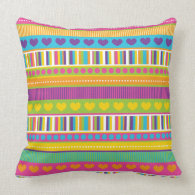 Colorful Rainbow Cute Patterns and Shapes Gifts Pillows