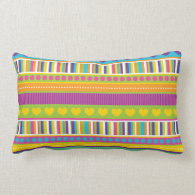 Colorful Rainbow Cute Patterns and Shapes Gifts Throw Pillows