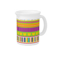 Colorful Rainbow Cute Patterns and Shapes Gifts Pitcher