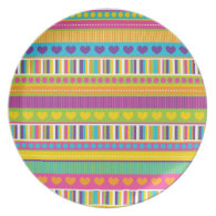 Colorful Rainbow Cute Patterns and Shapes Gifts Dinner Plates