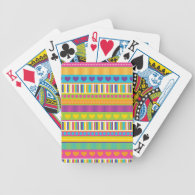 Colorful Rainbow Cute Patterns and Shapes Gifts Bicycle Poker Cards