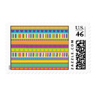 Colorful Rainbow Cute Patterns and Shapes Gifts Postage Stamp