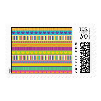 Colorful Rainbow Cute Patterns and Shapes Gifts Postage