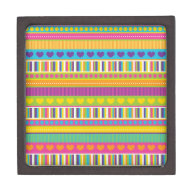 Colorful Rainbow Cute Patterns and Shapes Gifts Premium Keepsake Box