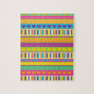 Colorful Rainbow Cute Patterns and Shapes Gifts Puzzles