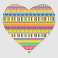Colorful Rainbow Cute Patterns and Shapes Gifts Sticker