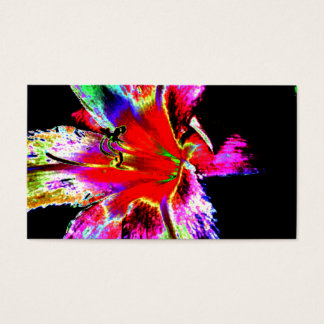 Colorful Rainbow Daylily Business Card