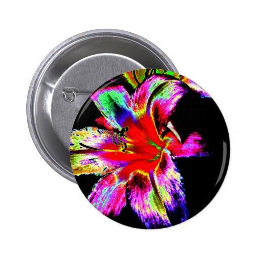Colorful Rainbow Daylily Pin