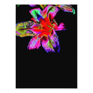 Colorful Rainbow Daylily Personalized Invitation