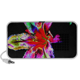Colorful Rainbow Daylily Notebook Speakers