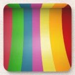 Colorful Rainbow Design Drink Coasters