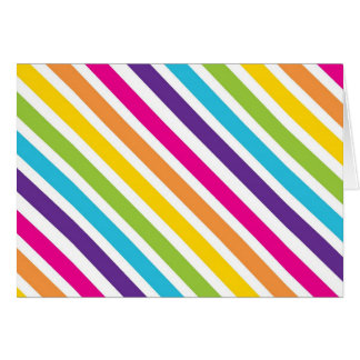 Colorful Rainbow Diagonal Stripes Gifts for Teens Card