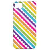 Colorful Rainbow Diagonal Stripes Gifts for Teens iPhone 5 Case