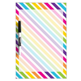 Colorful Rainbow Diagonal Stripes Gifts for Teens Dry-Erase Board