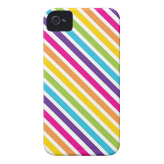 Colorful Rainbow Diagonal Stripes Gifts for Teens iPhone 4 Cover