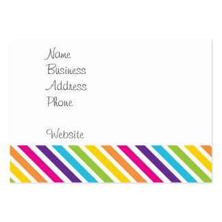 Colorful Rainbow Diagonal Stripes Gifts for Teens Large Business Card