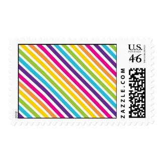 Colorful Rainbow Diagonal Stripes Gifts for Teens Postage Stamps