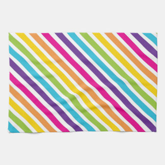 Colorful Rainbow Diagonal Stripes Gifts for Teens Towel