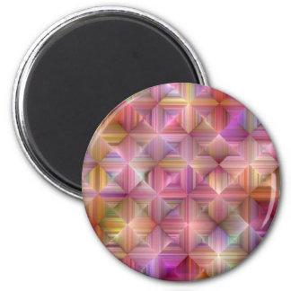 Colorful Rainbow Diamond Design Magnet